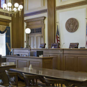 courtroom where DWI trials occur