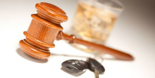 Car Keys, Legal Gavel & Alcohol